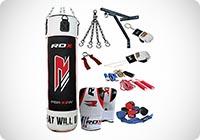 Autentico 13p RDX Set Boxe Professionistica Pelle Rex Punch Bag