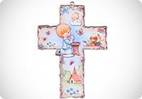Croce colorata per battesimo per bambini
