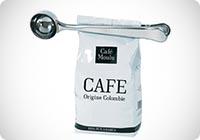 Cucchiaio dosatore per caffe con pinza chiudibusta