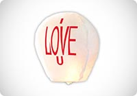 Lanterna Cinese Volante del cielo I LOVE U I love you