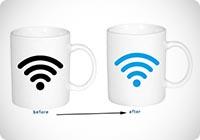 Magico calore sensibile segnale WiFi