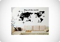 Mappa del Mondo Adesivi Murali