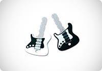 Rock Guitar - Coprichiave in gomma a forma di chitarra