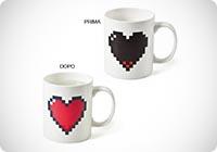 Tazza HEART design CUORE Pixel 8 bit