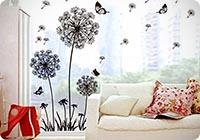 UfingoDecor Tarassaco Neri e Farfalle