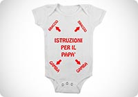 body da neonato istruzioni per il papa