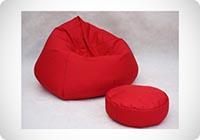 pouf rosso morbida salotto