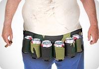 Cintura porta birre mimetica con 6 posti