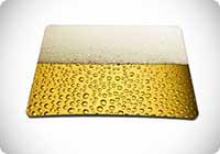 Luxburg Design tappetino Mouse birra