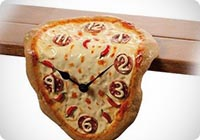 Orologio da mensola o scrivania a forma di PIZZA copia