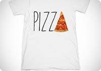 UK21 Century Clothing da Uomo Pizza T-Shirt copia