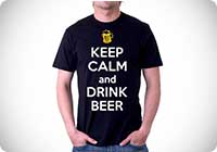 t-shirt keep calm and drink beer birra